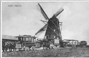 Postkort af Aaby Mølle ca. 1907