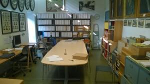 Arkivets lokaler på Åby Bibliotek
